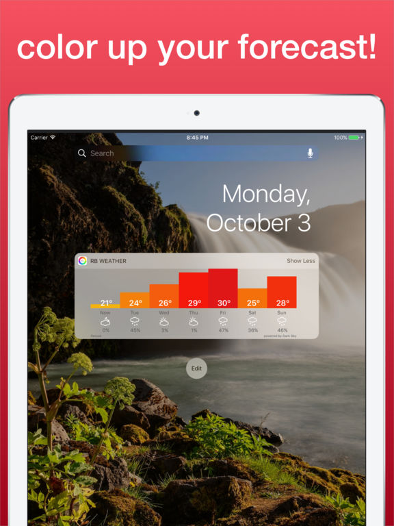 Rainbow Weather Widget - Beautiful Local Forecast Screenshots