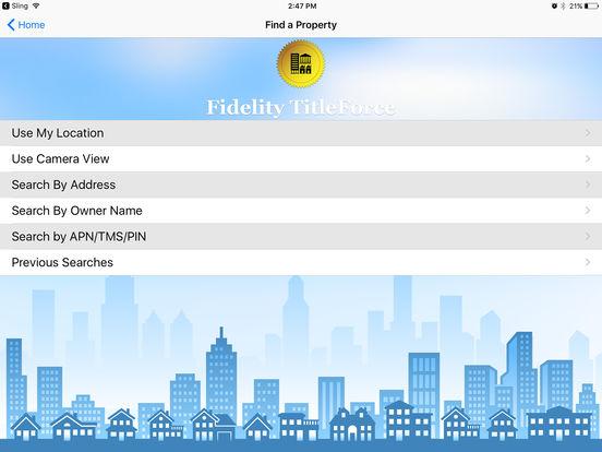 Fidelity TitleForce iPad Screenshot 1