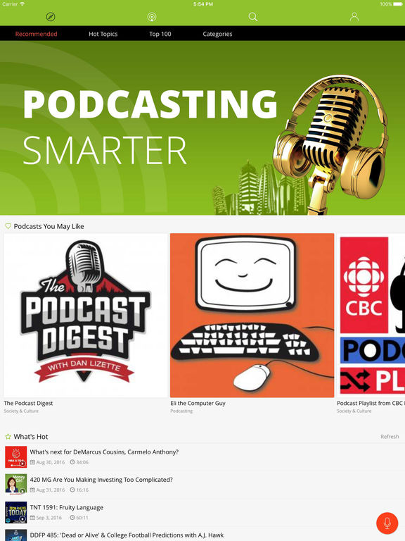 Podbean Podcast App screenshot