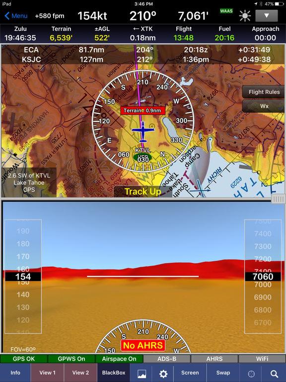 WingX Pro7 - Aviation Moving Map, Charts, and Weather screenshot