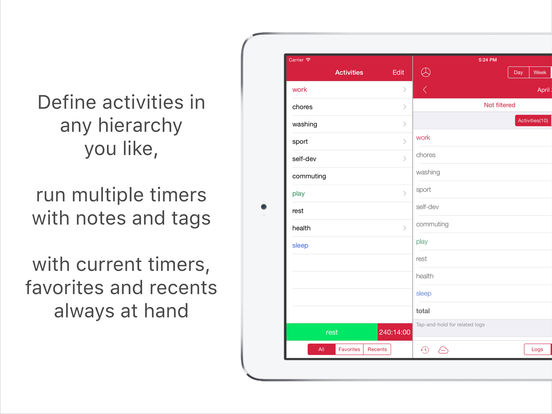 Eternity Time Log - Personal Timesheet Screenshot