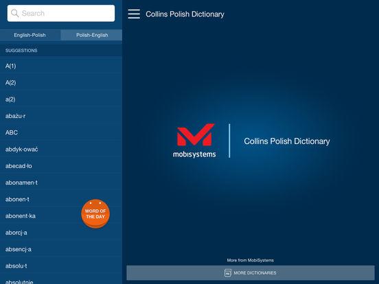 Collins Polish Dictionary iPad Screenshot 1