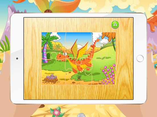 Мультфильм Дракон Пазлы для детей – Детский сад Обучение Игры Бесплатно Скриншоты8