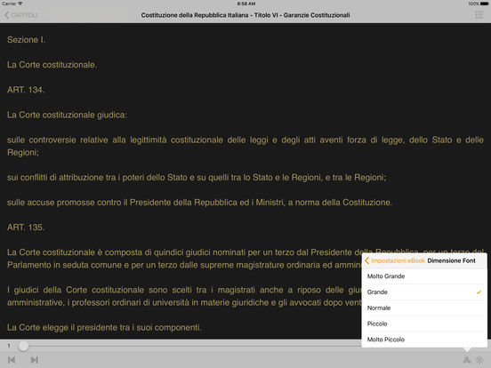 Costituzione della Repubblica Italiana iPad Screenshot 2
