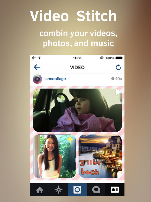 Clip Stitch 2 - Video Collage Maker for Instagram Screenshots