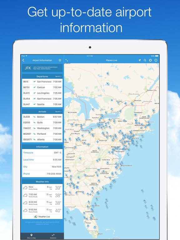 Planes Live - Flight Status Tracker and Radar Screenshots