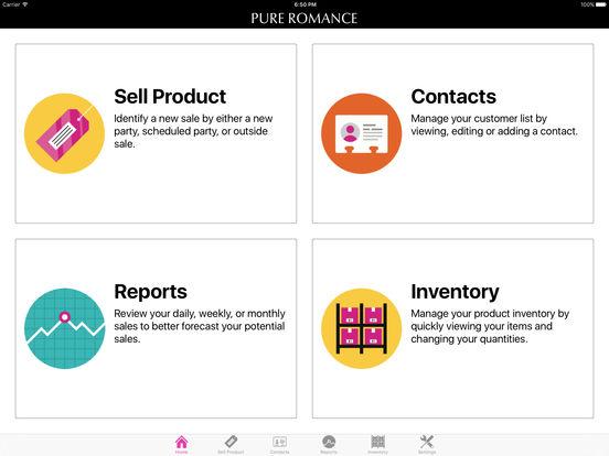 pure romance consultant app