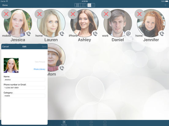 FaceDial ~ Facetime Photo Dialer iPad Screenshot 5