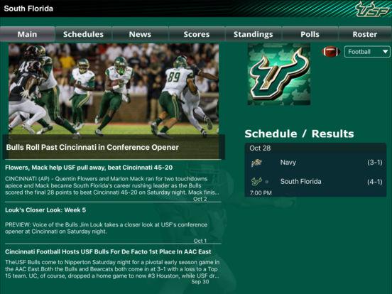 South Florida Bulls College SuperFans iPad Screenshot 2