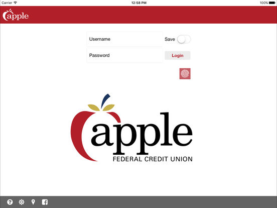 Apple Federal Credit Union iPad Screenshot 1