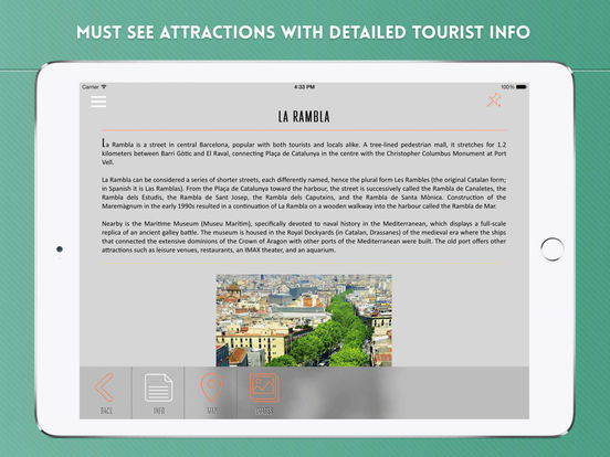 Barcelona Travel Offline iPad Screenshot 3