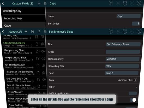 Set List Maker iPad Screenshot 1