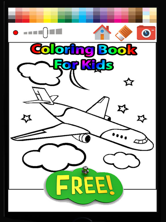 App Shopper Airplane Coloring Book For Kids Free Games