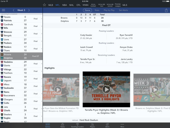 Sports Scores & Alerts screenshot