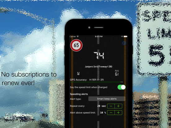 Live speed limit alerts - avoid speeding tickets Screenshots