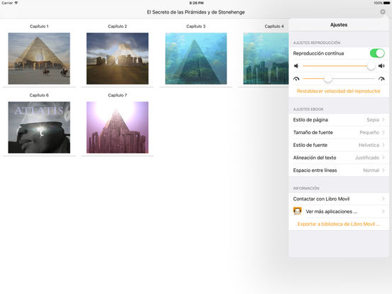 El Secreto de las Pirámides y de Stonehenge - AudioEbook iPad Screenshot 1