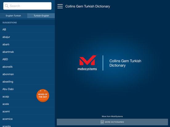 Collins Gem Turkish Dictionary iPad Screenshot 1