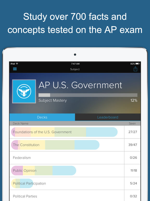 AP US Government & Politics Exam Prep - powered by Brainscape Screenshots