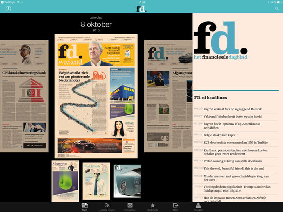 FD e-paper iPad Screenshot 1