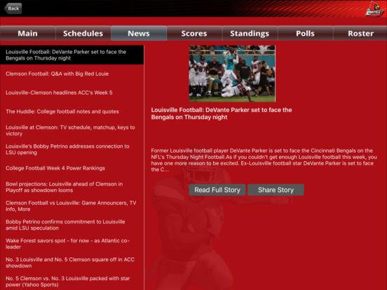 Louisville Cardinals College SuperFans iPad Screenshot 3