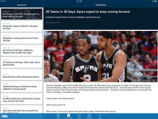 NBA Game Time 2010-2011 iPad Screenshot 2
