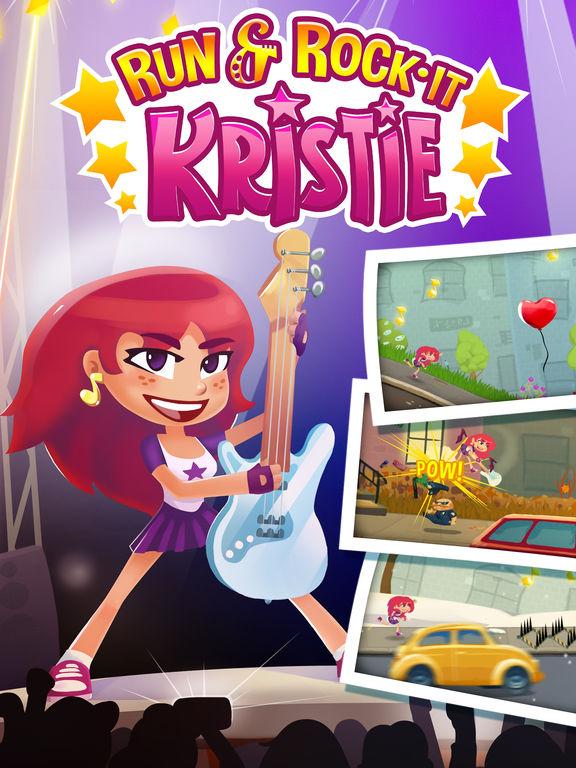 Run and Rock-it Kristie -  супер соло на гитаре и геймплей как мультик - классная игра для детей и взрослых Screenshot