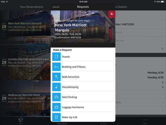 how to add a reservation to marriott app