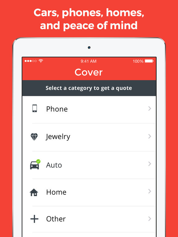 Cover – Insurance quotes for car, home, pet, travel and life screenshot