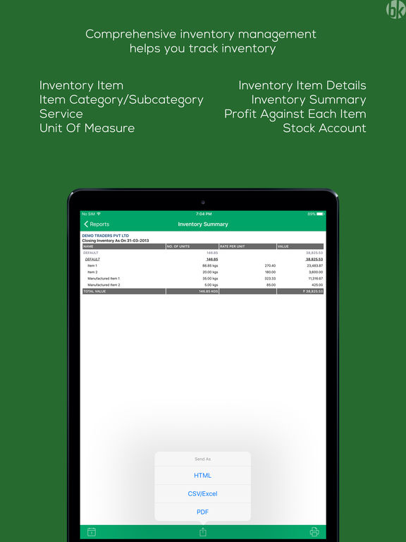 Book Keeper Accounting + Invoicing screenshot