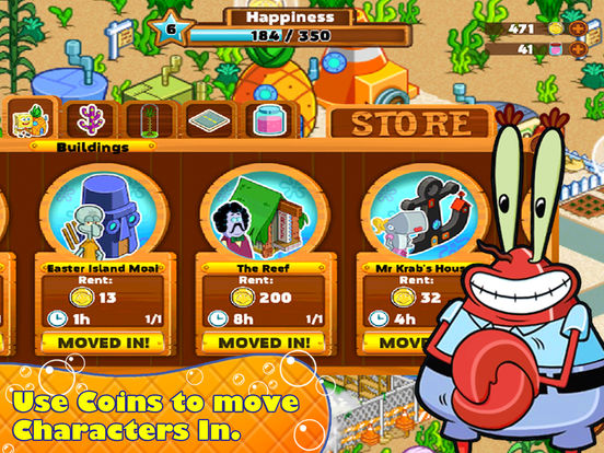SpongeBob Moves In App iPhone Screenshot #4 (© Nickelodeon)