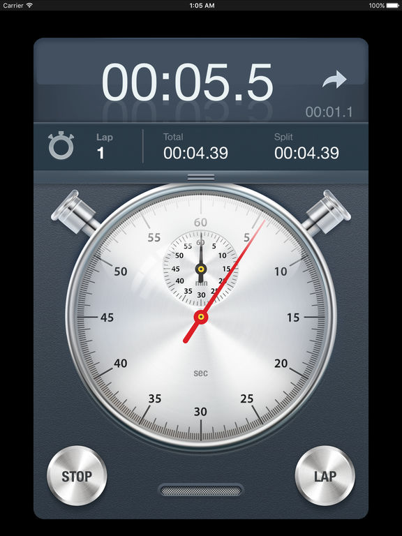 Stopwatch+: Accurate Mechanical Analog Timepiece Screenshots