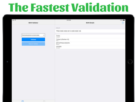 IBAN Validator iPad Screenshot 1