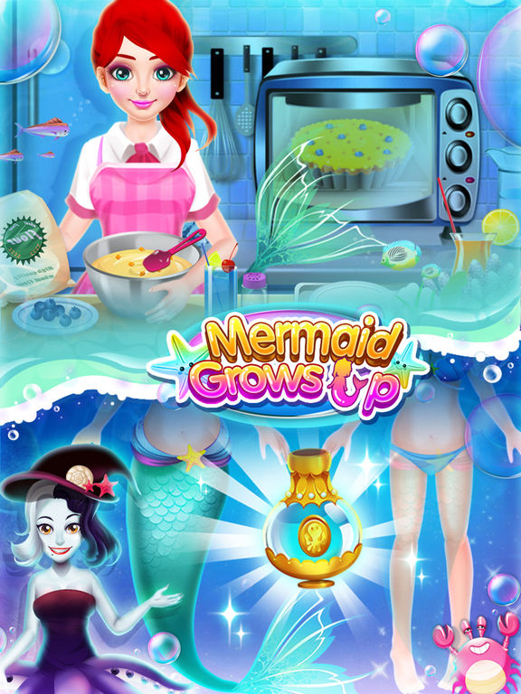 Mermaid Grows Up - Makeover, Dressup & SPA Games FREEscreeshot 4