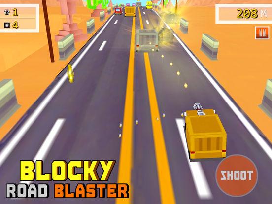 Скачать игру Blocky Road Blaster - 3D ( Fun Race & Shoot Game )