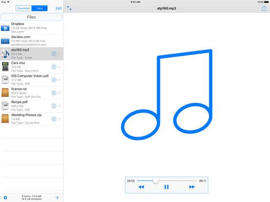 Filer Lite iPad Screenshot 1