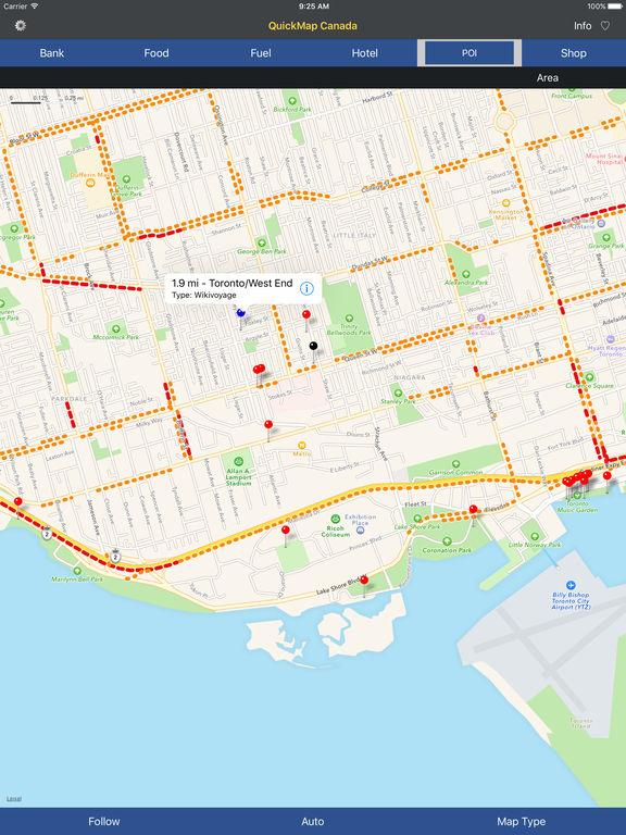 QuickMap Canada Screenshots