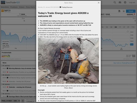 Saxo Bank iPad Screenshot 3