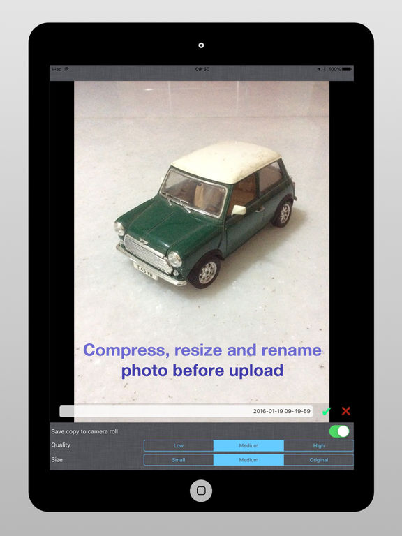 DropPhox - Snap,compress & send photos for Dropbox Screenshots