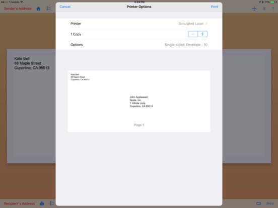 Envelope Maker iPad Screenshot 5