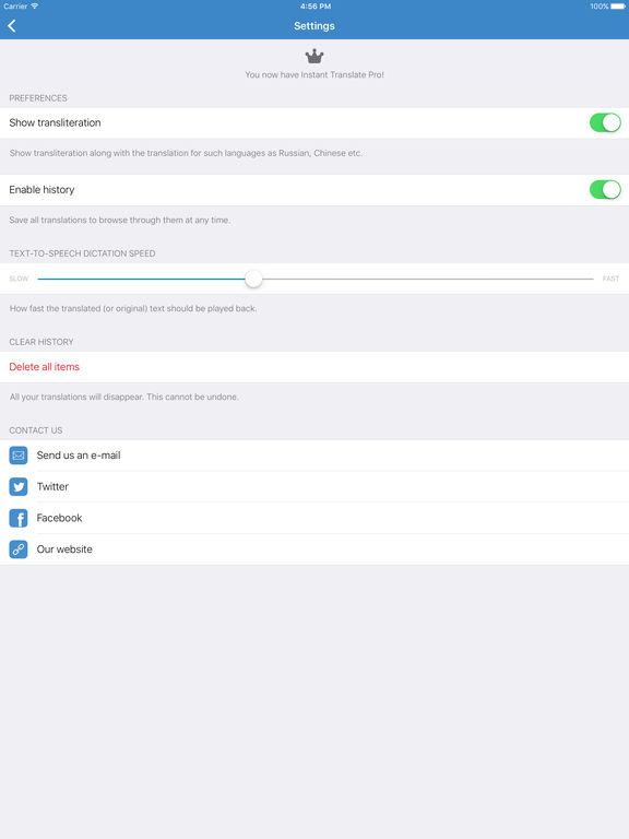 Instant Translate Pro — translator and dictionary Screenshots