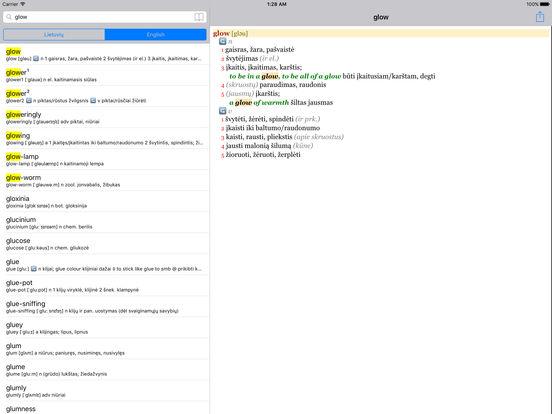 Anglonas - the English-Lithuanian dictionary iPad Screenshot 2
