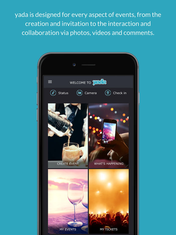 yada – create a buzz at all your events: invite guests, collect & display their posts, photos and videos screenshot