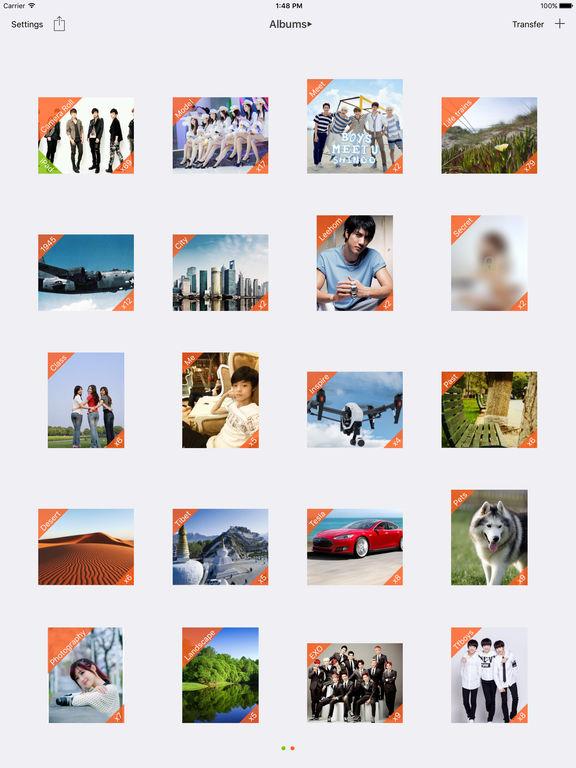 vPhoto--A cool photos App, Password can be set Screenshots