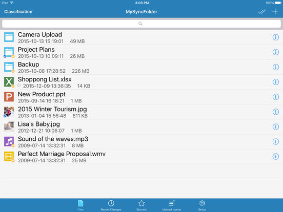 ASUS WebStorage iPad Screenshot 1