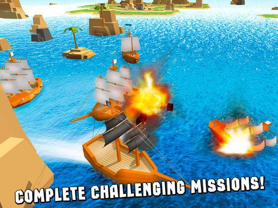 Pixel Pirate Ship Simulator 3D Full screenshot 8