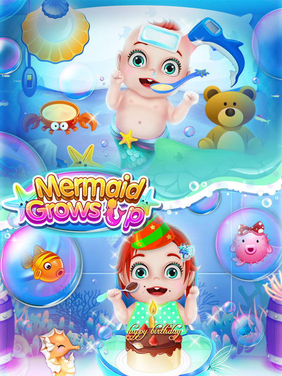 Mermaid Grows Up - Makeover, Dressup & SPA Games FREEscreeshot 2