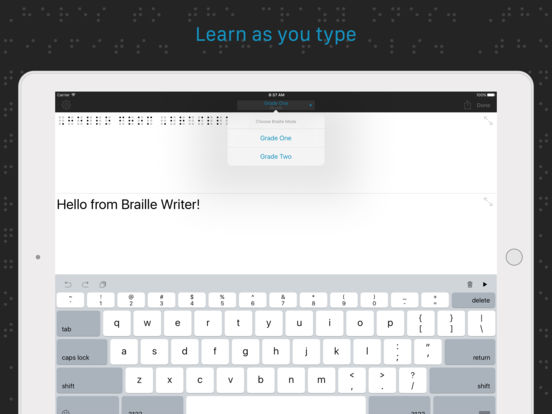Braille Writer iPad Screenshot 3