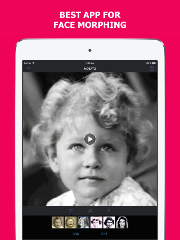 Motato: Morph Face Pictures for Slideshow Maker Screenshots