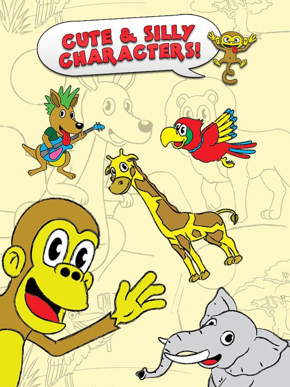 Раскраска сенсорный животных зоопарка цвета Книжка-раскраска активности для детей и семейного дошкольного Coloring Animal Zoo Activity Coloring Book