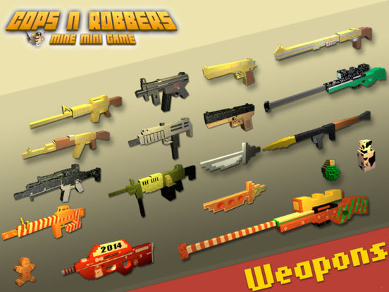 Cops N Robbers (FPS) - Mine Mini Game With Survival Multiplayer Free Screenshots